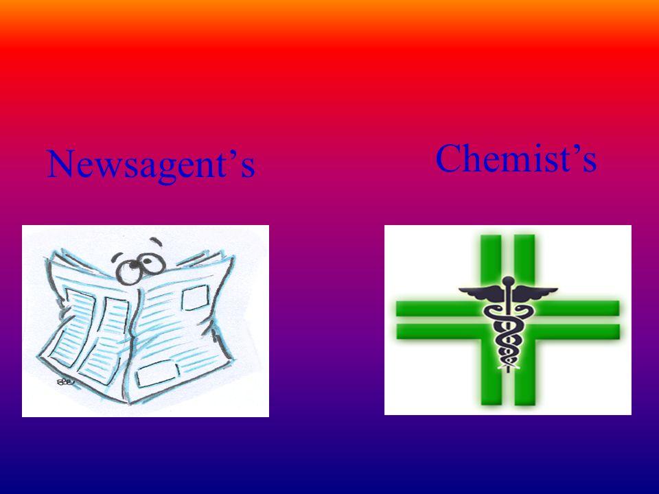 Newsagents Chemists