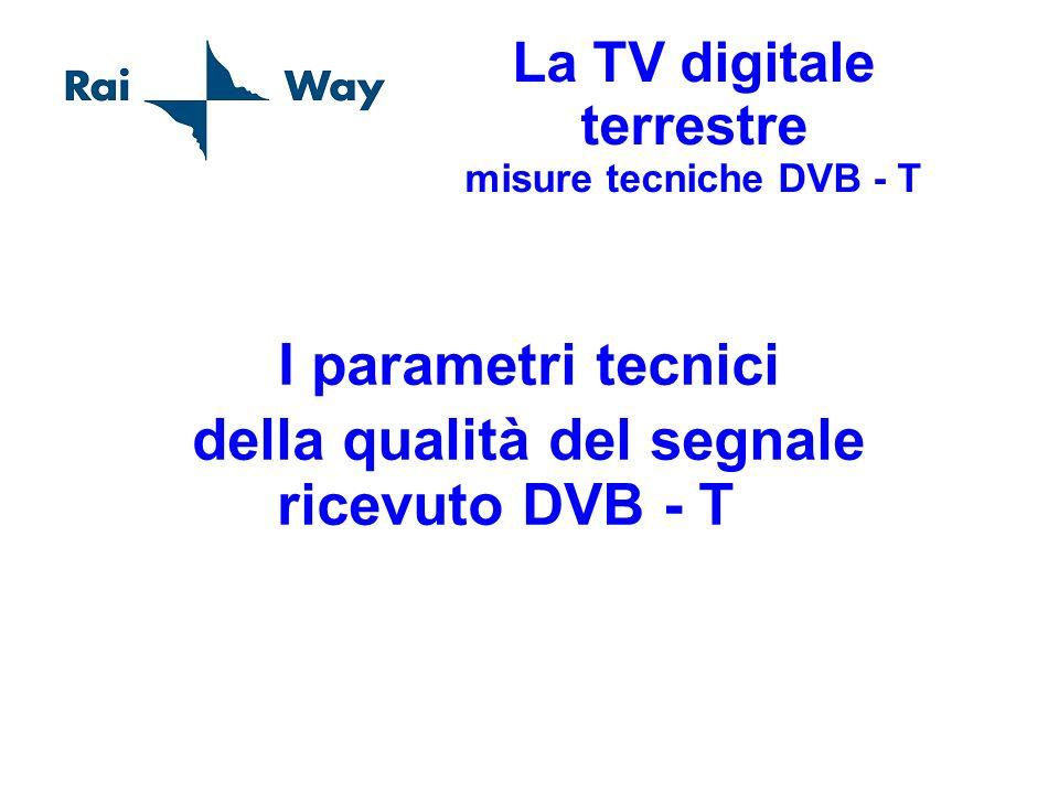 La TV digitale terrestre misure tecniche DVB - T I parametri tecnici della qualità del segnale ricevuto DVB - T