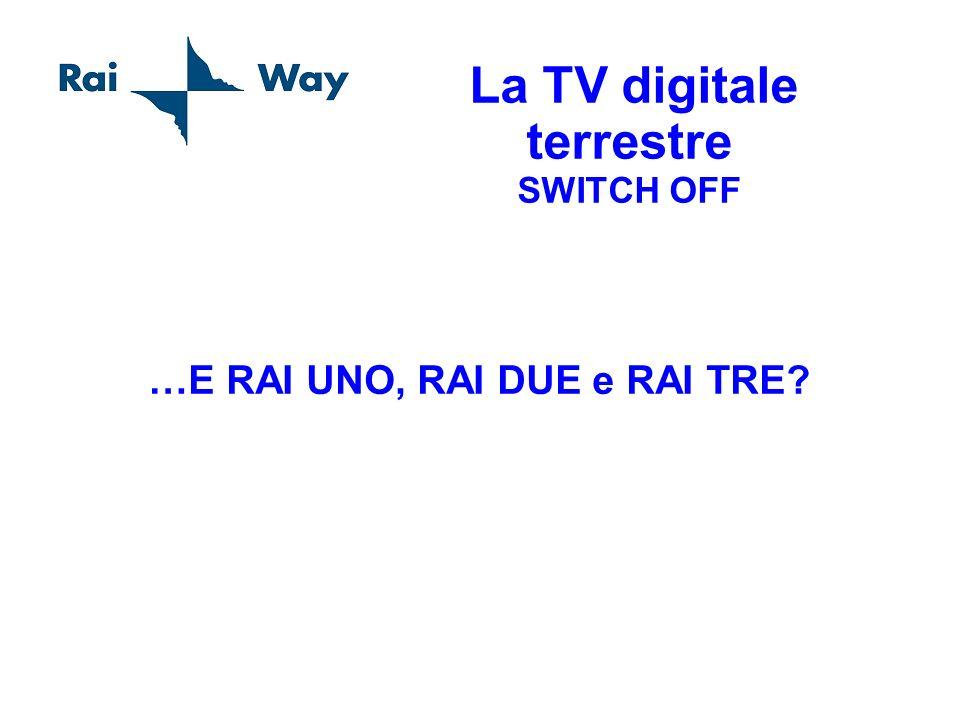 La TV digitale terrestre SWITCH OFF …E RAI UNO, RAI DUE e RAI TRE?