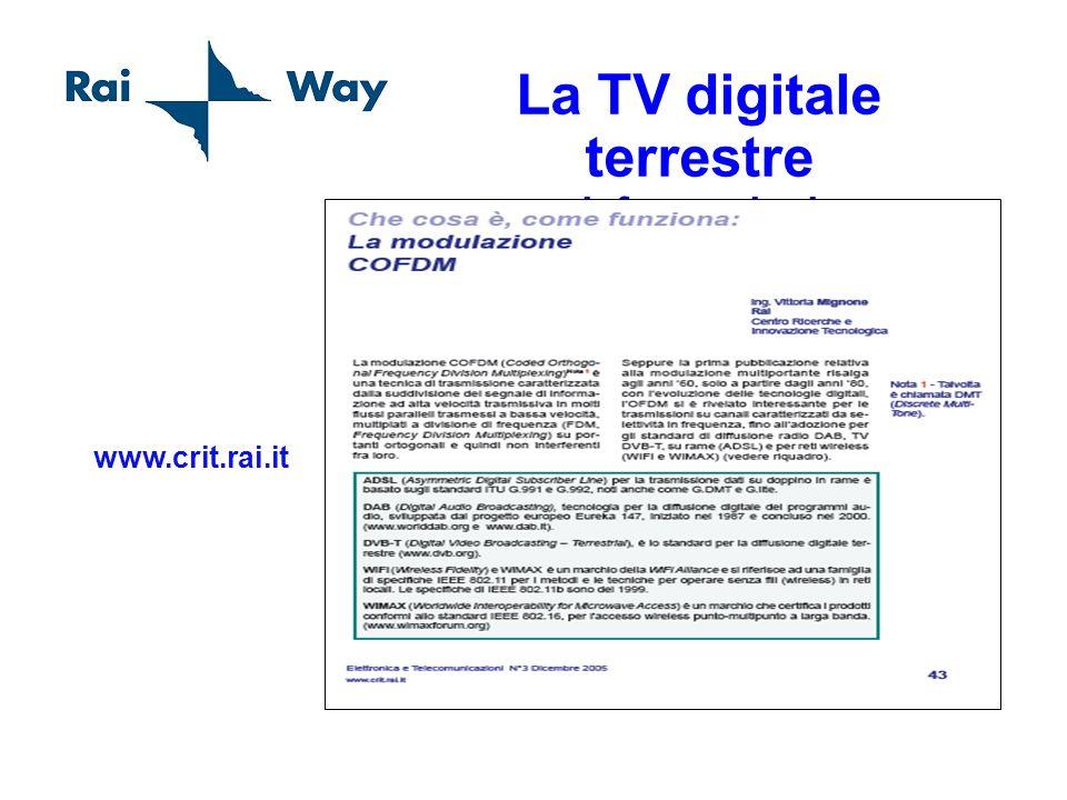 La TV digitale terrestre informazioni www.crit.rai.it