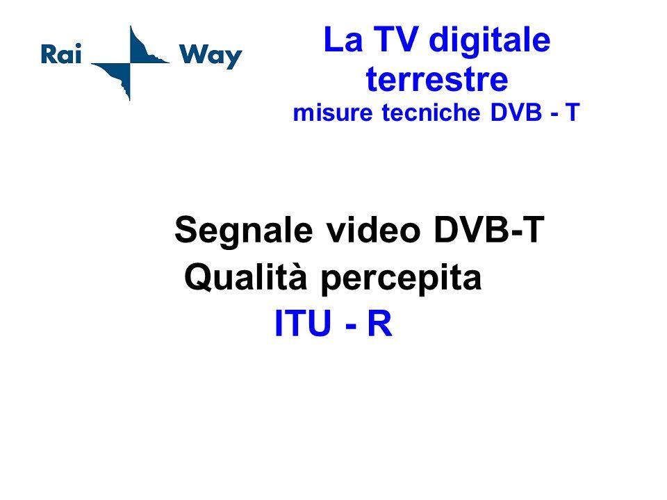 La TV digitale terrestre misure tecniche DVB - T Segnale video DVB-T Qualità percepita ITU - R