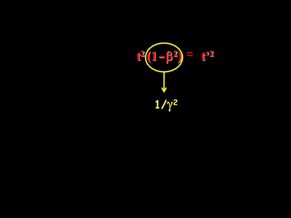t 2 (1 - 2 ) = t2t2t2t2 1/ 2