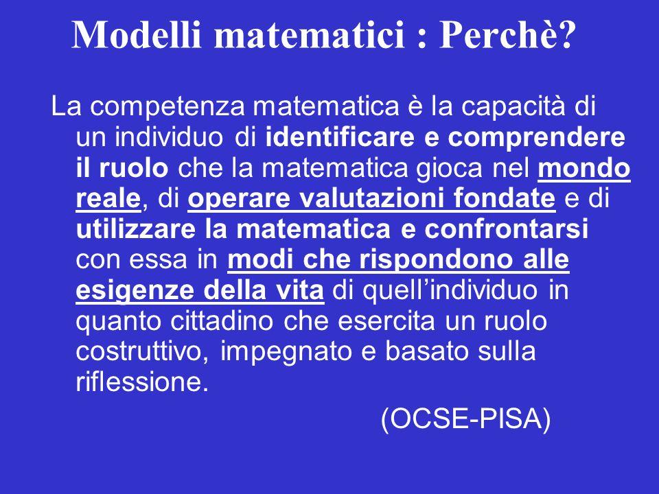 La competenza matematica è la capacità di un individuo di identificare e comprendere il ruolo che la matematica gioca nel mondo reale, di operare valu