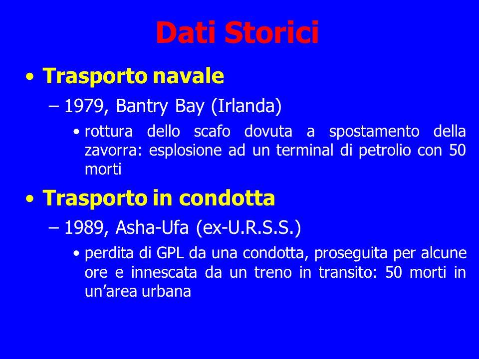 Dati Storici Trasporto navale –1979, Bantry Bay (Irlanda) rottura dello scafo dovuta a spostamento della zavorra: esplosione ad un terminal di petroli
