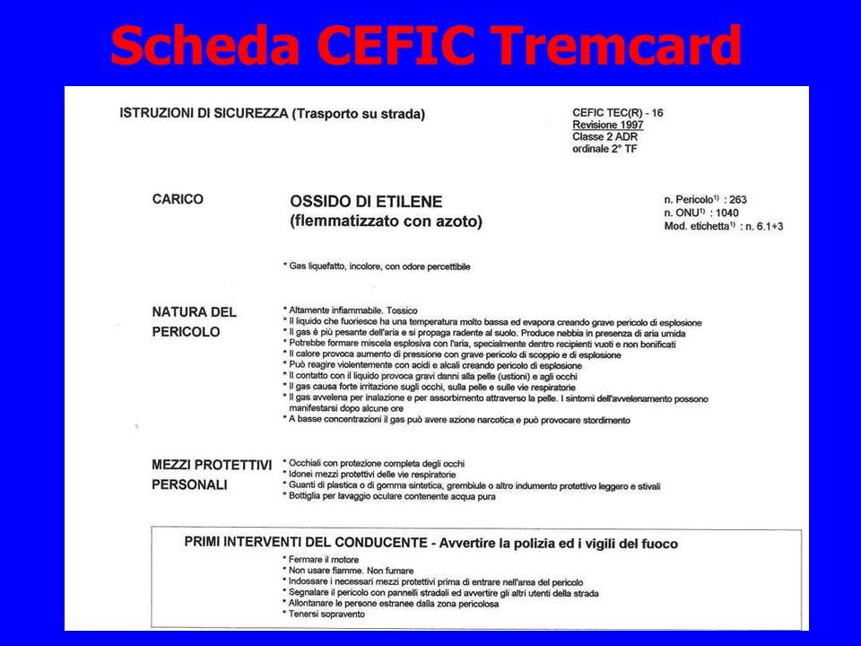 Scheda CEFIC Tremcard