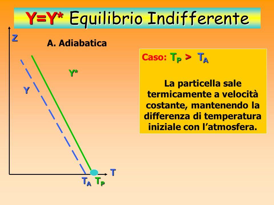T P > T A Caso termico: T P > T A T P < T A Caso Dinamico: T P < T A Z T TPTPTPTP TATATATA Z TATATATA TPTPTPTP T P > T A T P T A e T P < T A T P = T A Oppure ha sempre una posizione di equilibrio T P = T A T P = T A Caso: T P = T A Z TPTPTPTP TATATATA = Y=Y* Equilibrio Indifferente
