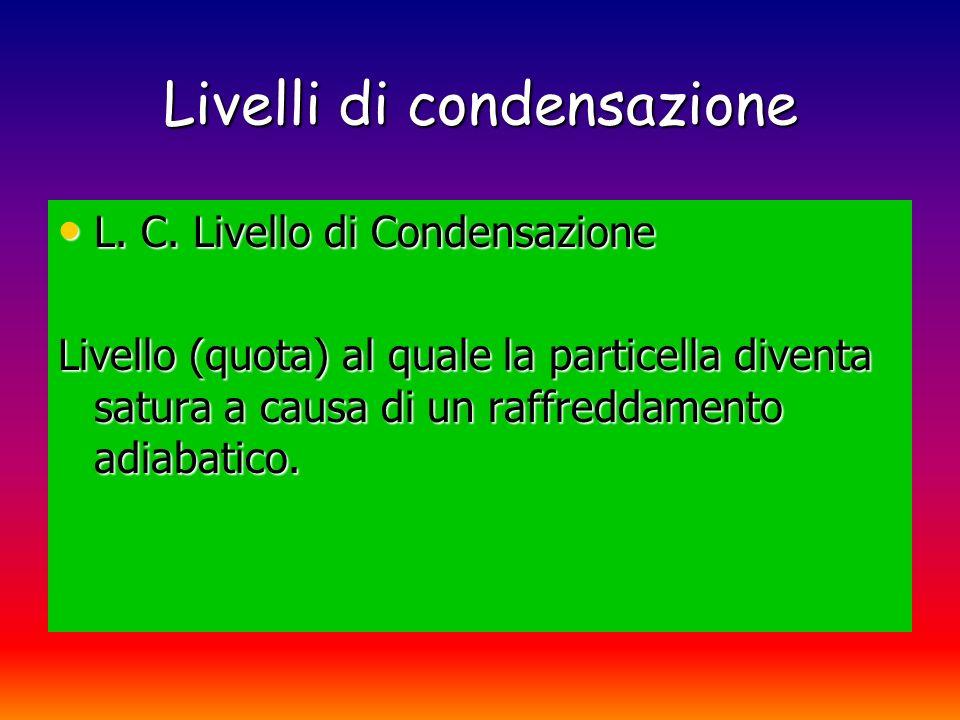 Livelli di condensazione L.C. F.