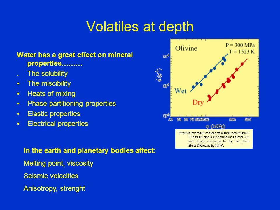 Influenza dellacqua sulle V p e V s Jacobsen RiMSA 63, 2006 H 2 O influenza più della temperatura la velocità delle onde sismiche Ex.