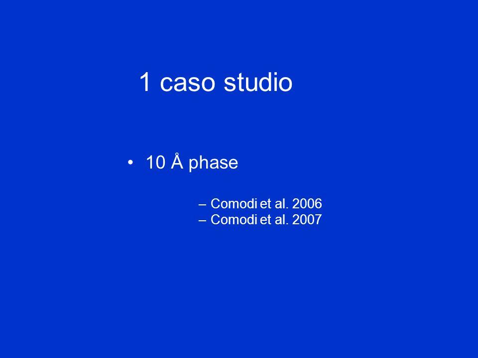 1 caso studio 10 Å phase –Comodi et al. 2006 –Comodi et al. 2007