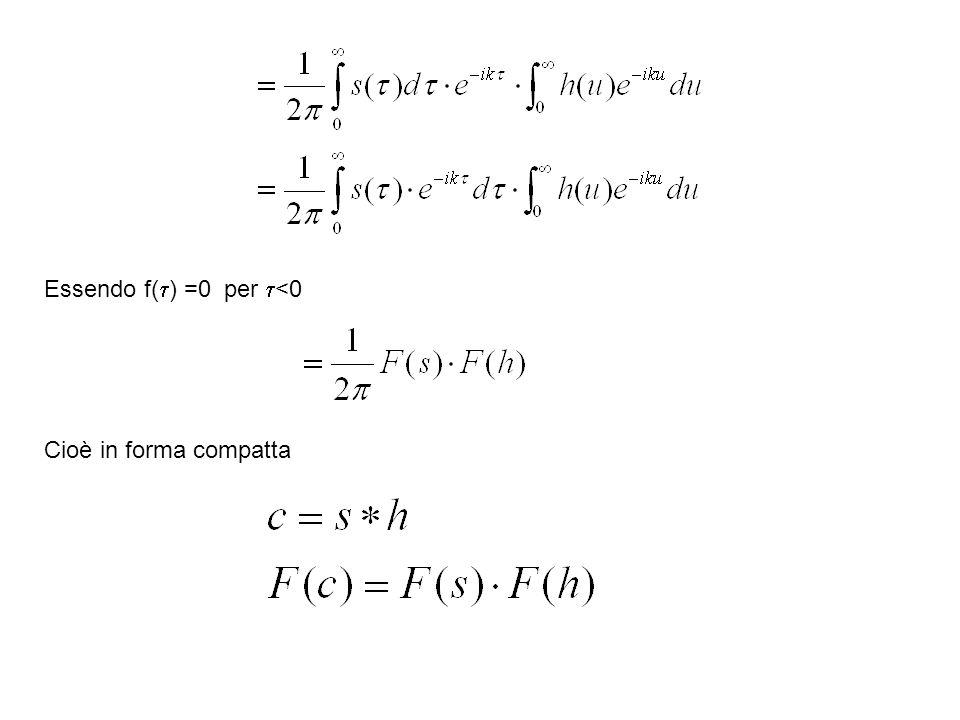 Essendo f( ) =0 per <0 Cioè in forma compatta