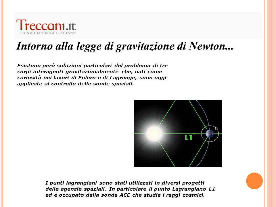 Intorno alla legge di gravitazione di Newton... Esistono però soluzioni particolari del problema di tre corpi interagenti gravitazionalmente che, nati