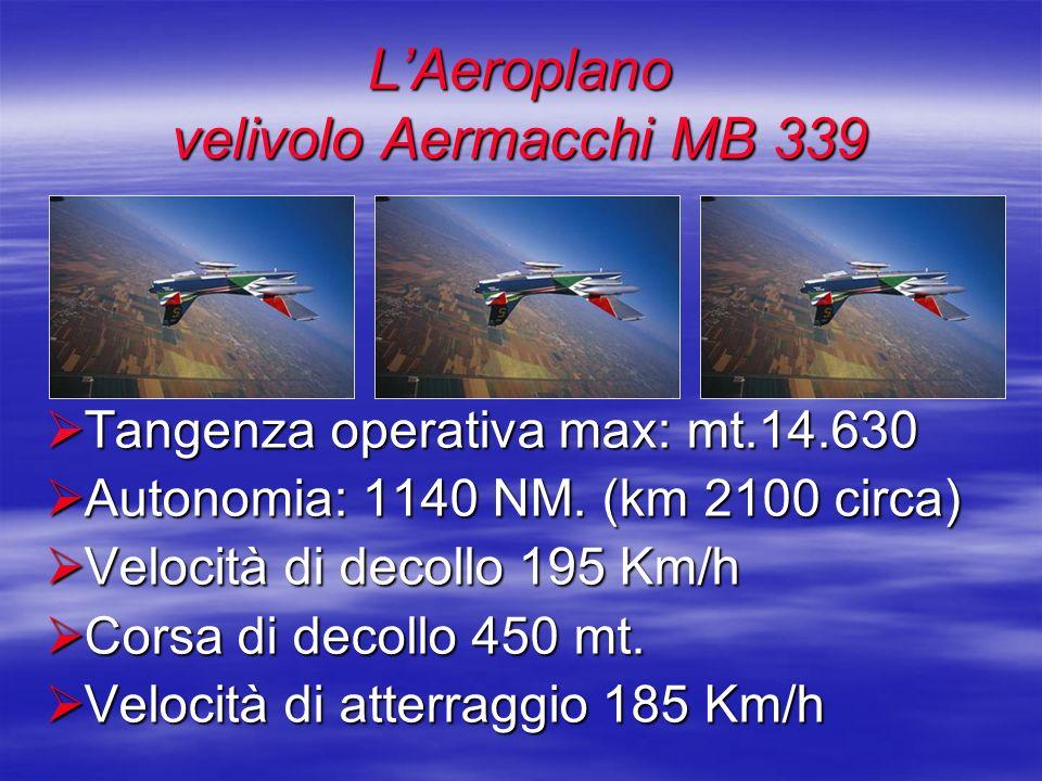 Tangenza operativa max: mt.14.630 Tangenza operativa max: mt.14.630 Autonomia: 1140 NM. (km 2100 circa) Autonomia: 1140 NM. (km 2100 circa) Velocità d