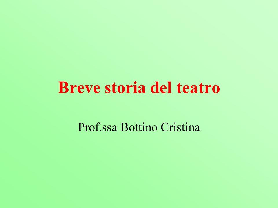 Breve storia del teatro Prof.ssa Bottino Cristina