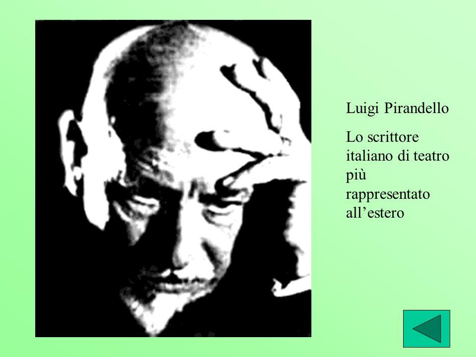Luigi Pirandello Lo scrittore italiano di teatro più rappresentato allestero