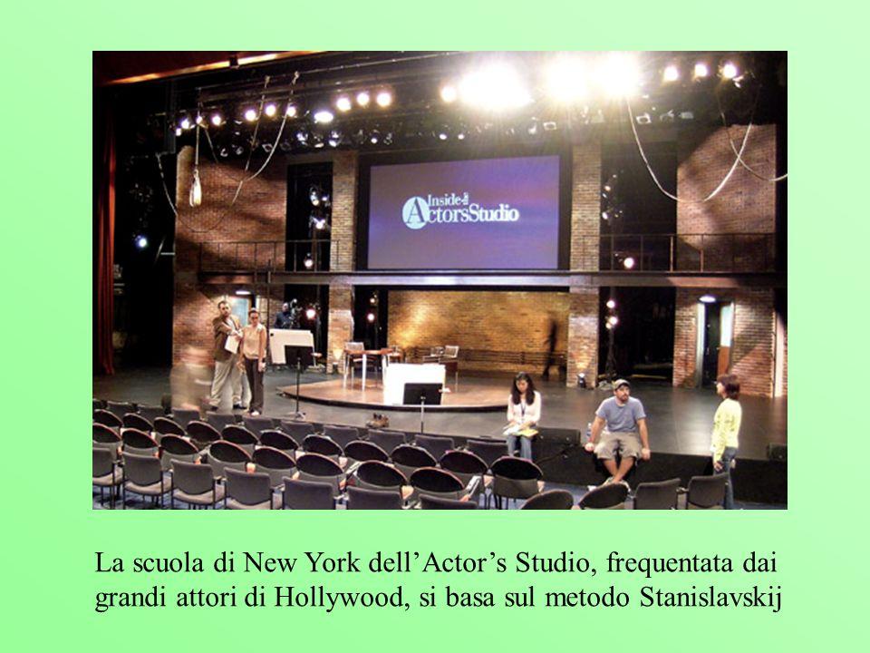 La scuola di New York dellActors Studio, frequentata dai grandi attori di Hollywood, si basa sul metodo Stanislavskij