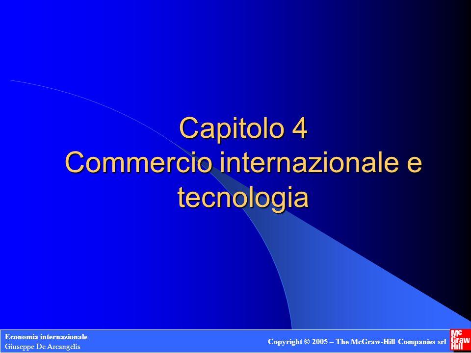 Economia internazionale Giuseppe De Arcangelis Copyright © 2005 – The McGraw-Hill Companies srl 21 Esportazioni e Importazioni Y OX p1p1 p* P1P1 C1C1 H1H1 EXP IMP