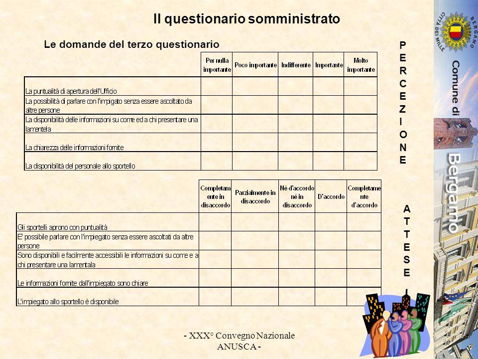 - XXX° Convegno Nazionale ANUSCA - 9 I dati dellindagine : le caratteristiche dei fruitori dei servizi demografici