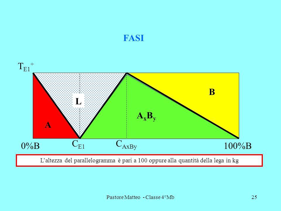 Pastore Matteo - Classe 4°Mb25 T E1 + FASI A AxByAxBy B L C AxBy C E1 0%B100%B Laltezza del parallelogramma è pari a 100 oppure alla quantità della le