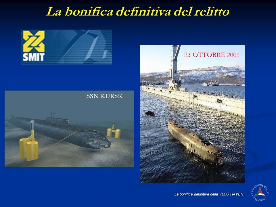 La bonifica definitiva della VLCC HAVEN La bonifica definitiva del relitto SSN KURSK 23 OTTOBRE 2001