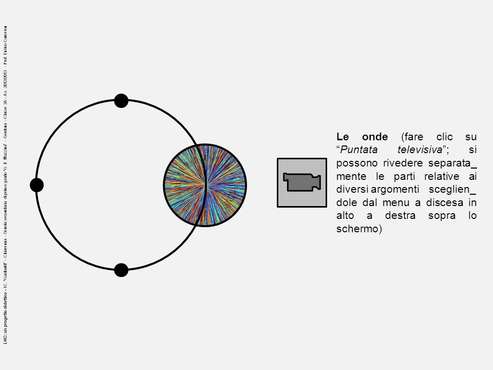 Le onde (fare clic suPuntata televisiva; si possono rivedere separata_ mente le parti relative ai diversi argomenti sceglien_ dole dal menu a discesa
