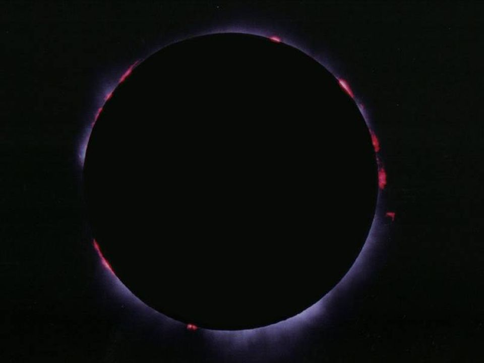 Le protuberanze La superficie del Sole è scossa da violente esplosioni che eiettano plasma solare a distanze enormi, anche ad oltre 200.000 km La loro