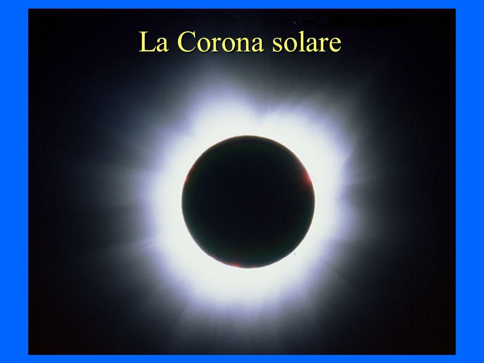 La corona solare E latmosfera del Sole; da Terra la si può osservare soltanto durante le eclissi Ha una temperatura di diversi milioni di gradi, ma un