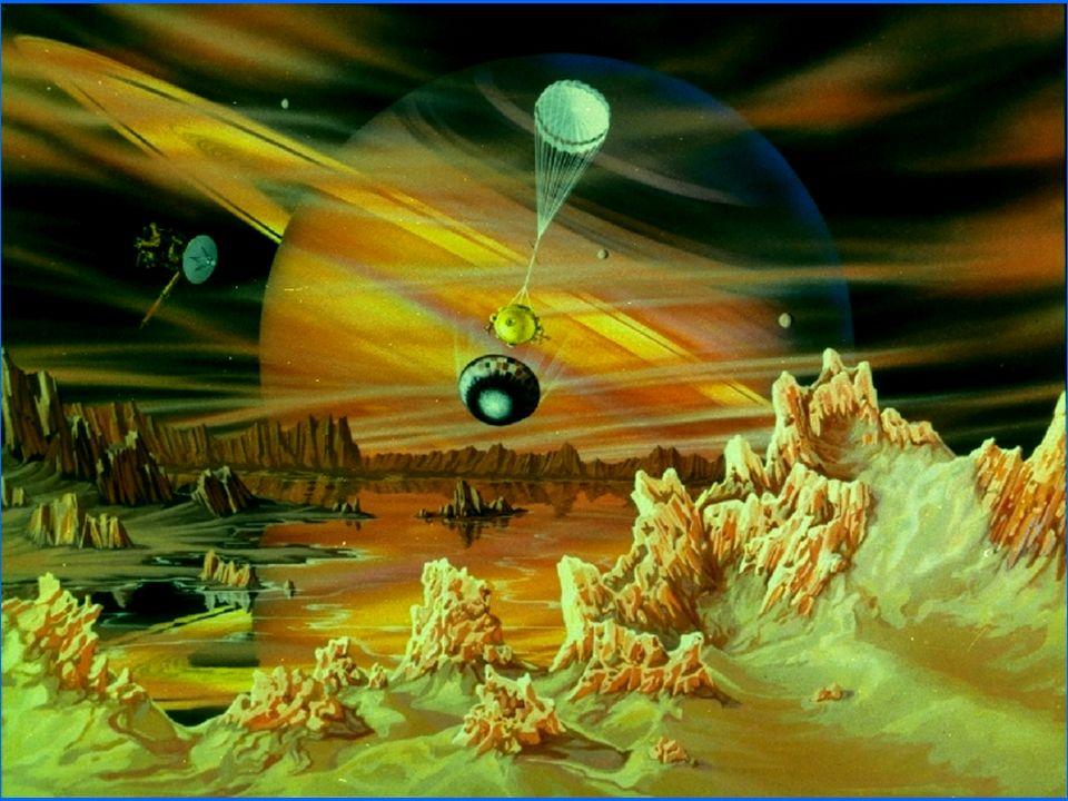 Una famiglia numerosa Sono ben 30 le lune orbitanti attorno a Saturno. La più grande, Titano, ha un diametro di oltre 5.000 km e unatmosfera molto den