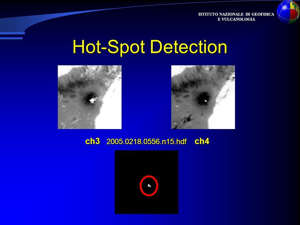 ISTITUTO NAZIONALE DI GEOFISICA E VULCANOLOGIA Hot-Spot Detection ch3 2005.0218.0556.n15.hdf ch4