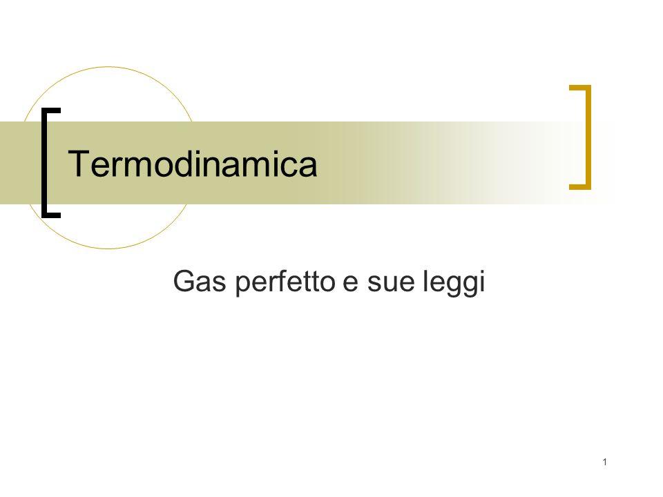 1 Termodinamica Gas perfetto e sue leggi