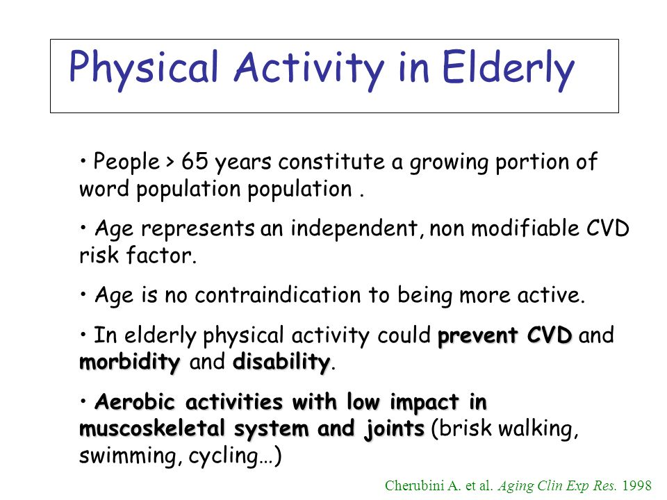 People > 65 years constitute a growing portion of word population population. Age represents an independent, non modifiable CVD risk factor. Age is no