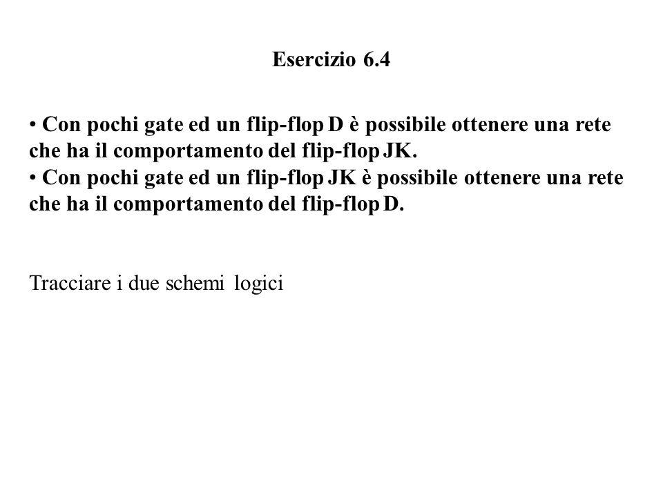 Il flip-flop JK holdsetresettoggle J Q K Q Q n+1 = (J.Q+K.Q) n J n K n Q n 00011110 00011 11001 Q n+1 J n K n Q n Q n+1 0000 0011 1001 1011 0100 0110