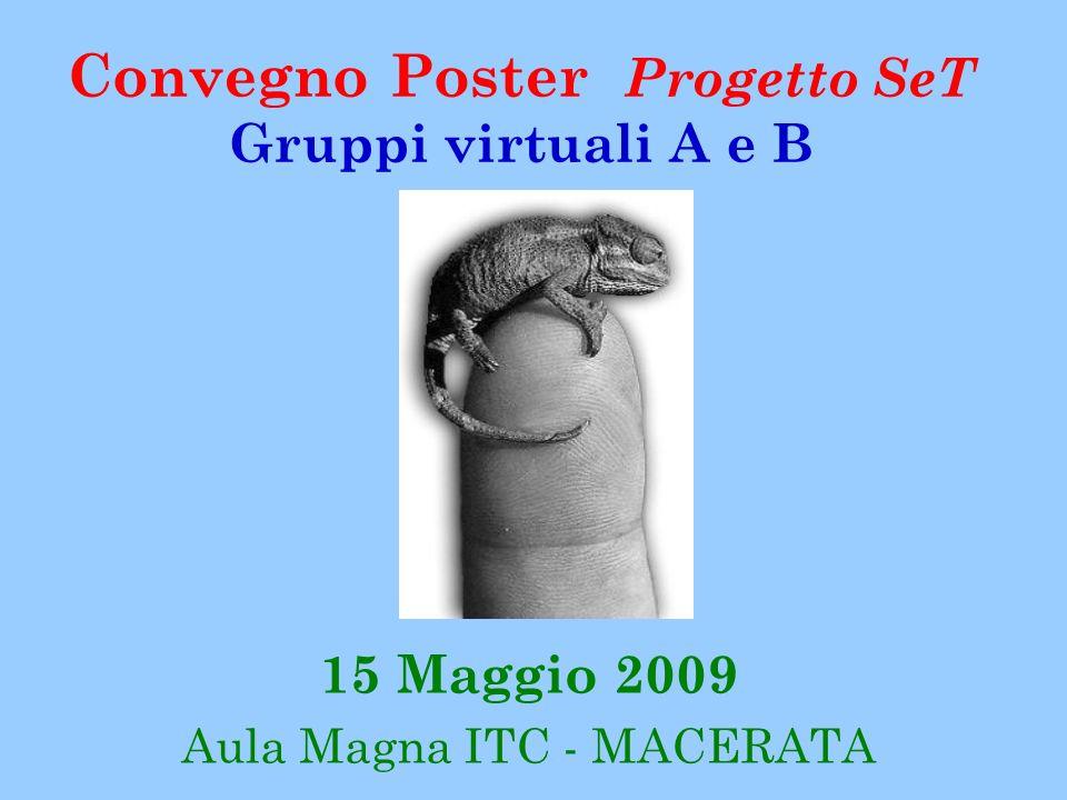 Convegno Poster Progetto SeT Gruppi virtuali A e B 15 Maggio 2009 Aula Magna ITC - MACERATA