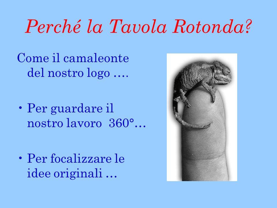 Perché la Tavola Rotonda. Come il camaleonte del nostro logo ….