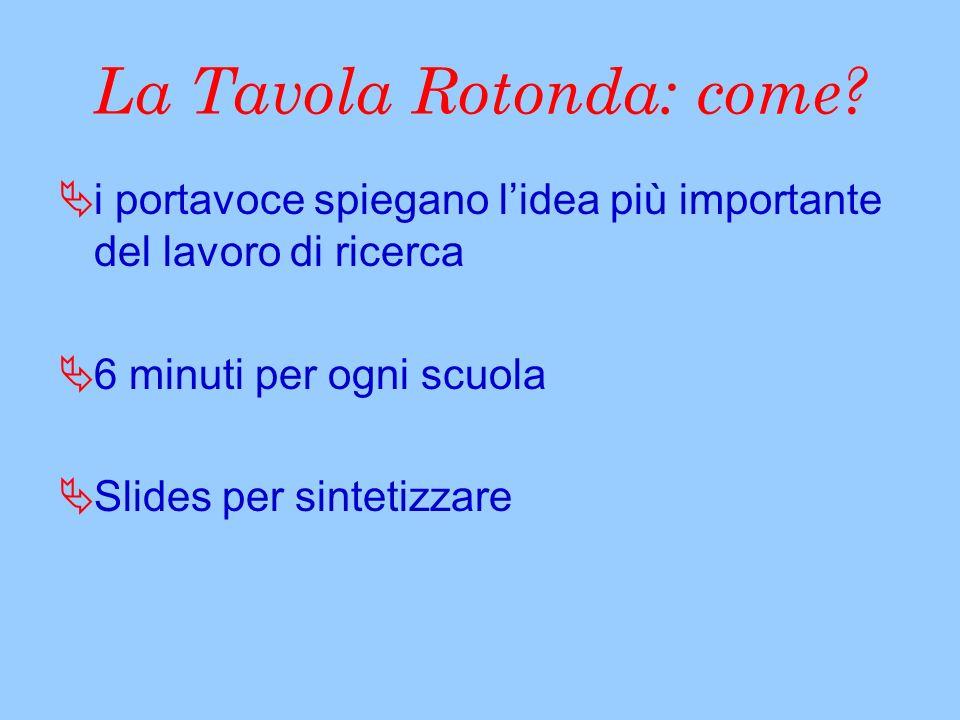 La Tavola Rotonda: come.
