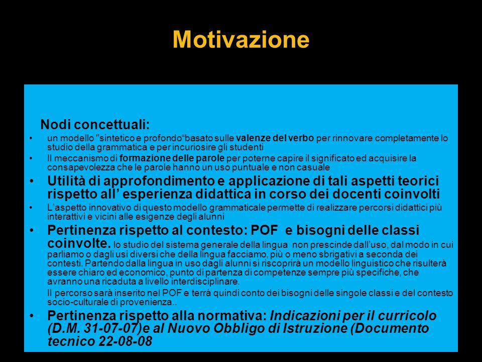 Motivazione Nodi concettuali: un modello