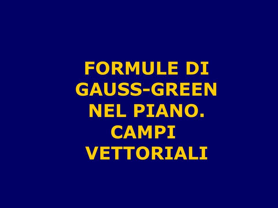 FORMULE DI GAUSS-GREEN NEL PIANO. CAMPI VETTORIALI