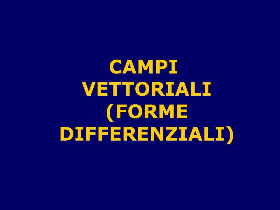 CAMPI VETTORIALI (FORME DIFFERENZIALI)