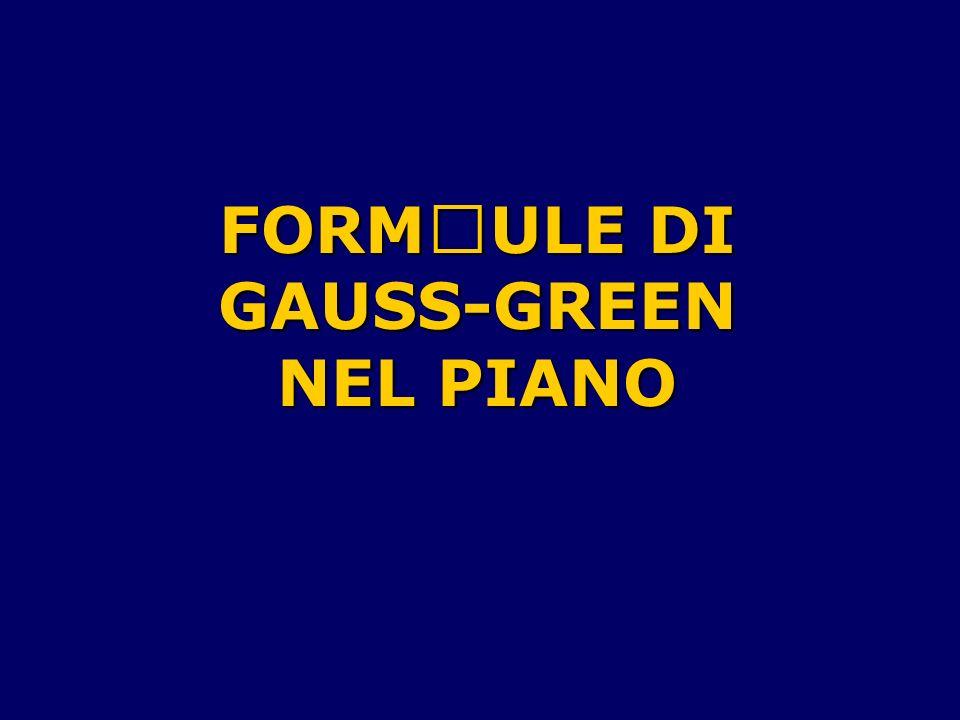 FORMULE DI GAUSS-GREEN NEL PIANO
