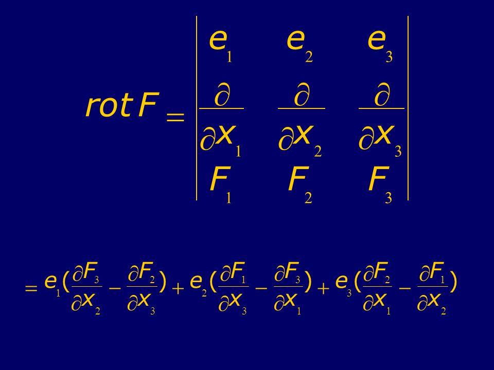rotF e 1 e 2 e 3 x 1 x 2 x 3 F 1 F 2 F 3 e 1 ( F 3 x 2 F 2 x 3 ) e 2 ( F 1 x 3 F 3 x 1 ) e 3 ( F 2 x 1 F 1 x 2 )