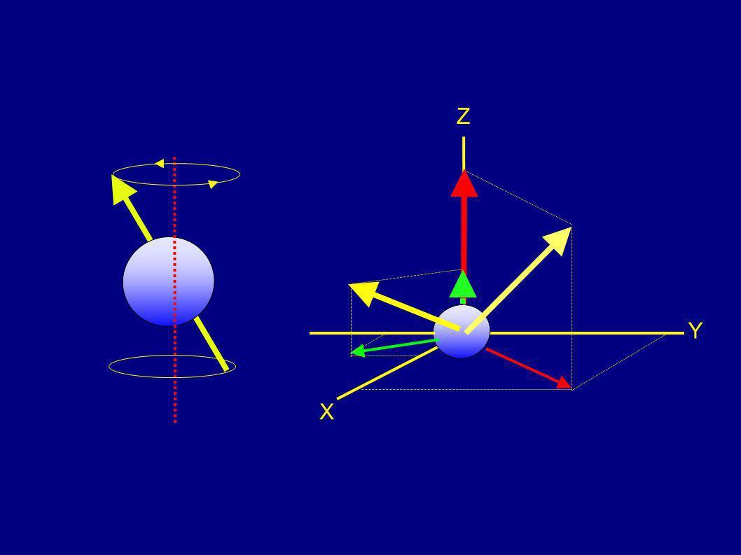 In presenza di un campo magnetico B 0 esterno la distribuzione cambia... B0B0 ee... ogni nucleo ha un moto di precessione attorno a B 0...