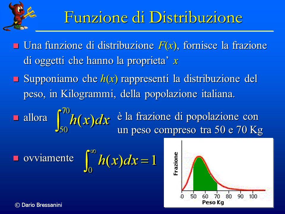 © Dario Bressanini 24 Funzione di Distribuzione Una funzione di distribuzione F(x), fornisce la frazione di oggetti che hanno la proprieta x Una funzi