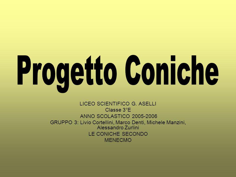 LICEO SCIENTIFICO G. ASELLI Classe 3°E ANNO SCOLASTICO 2005-2006 GRUPPO 3: Livio Cortellini, Marco Denti, Michele Manzini, Alessandro Zurlini LE CONIC