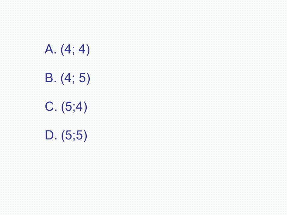 A. (4; 4) B. (4; 5) C. (5;4) D. (5;5)