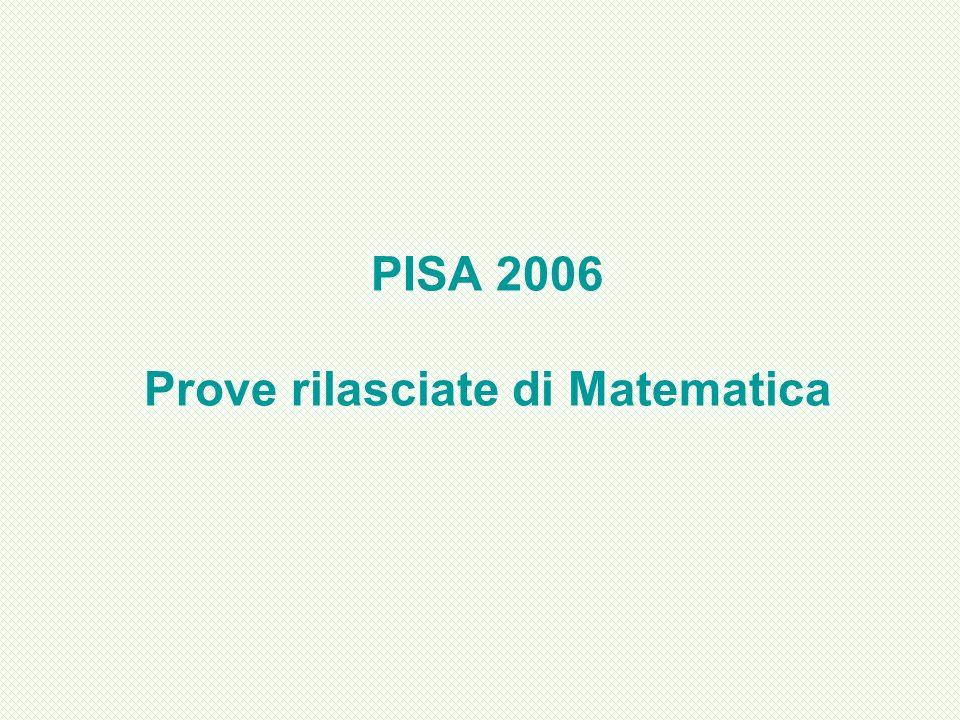 PISA 2006 Prove rilasciate di Matematica