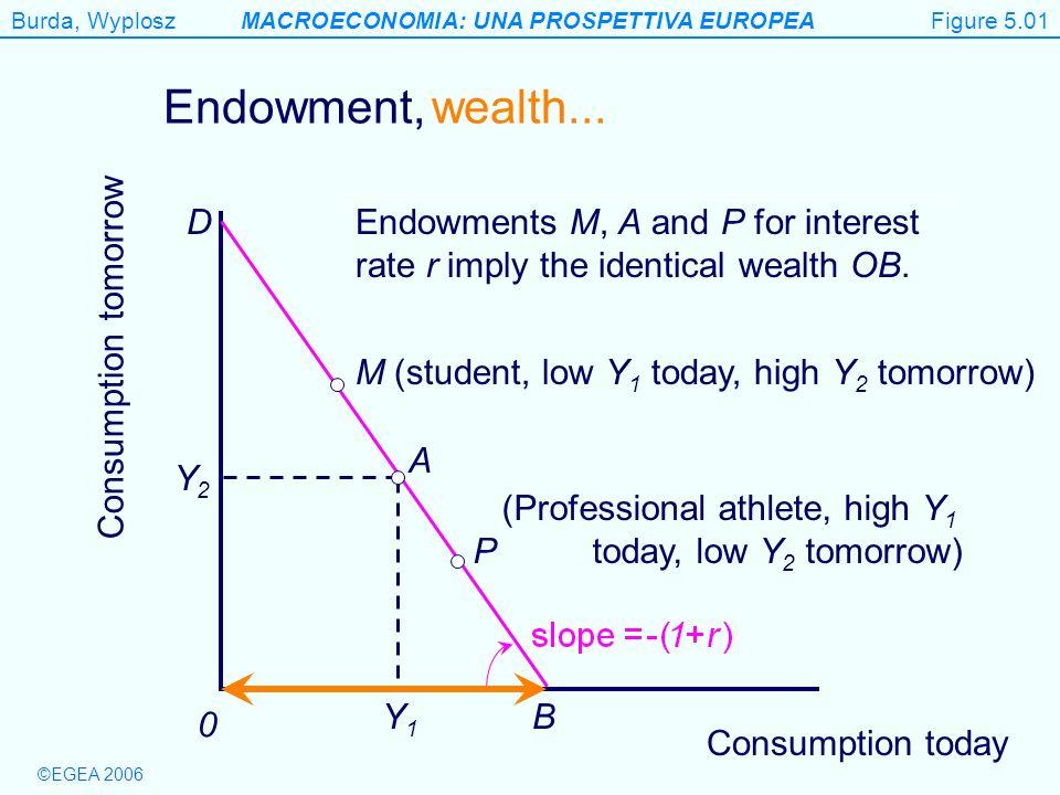 Burda, WyploszMACROECONOMIA: UNA PROSPETTIVA EUROPEA ©EGEA 2006 Figure 5.11 Consumption tomorrow 0 Households face higher rate of interest if they borrow.