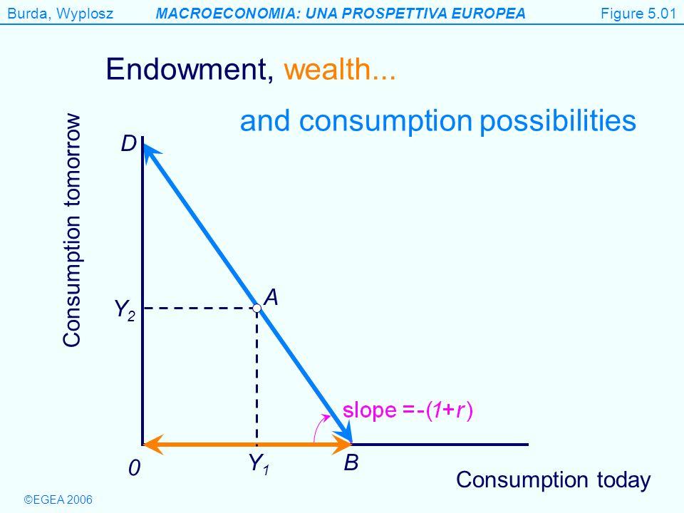 Burda, WyploszMACROECONOMIA: UNA PROSPETTIVA EUROPEA ©EGEA 2006 Figure 5.5 Output 0 Productive technology R Technological innovation Capital stock Figure 5.05