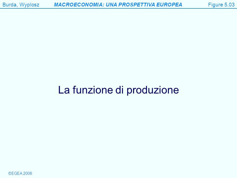 Burda, WyploszMACROECONOMIA: UNA PROSPETTIVA EUROPEA ©EGEA 2006 Figure 5.3 La funzione di produzione Figure 5.03
