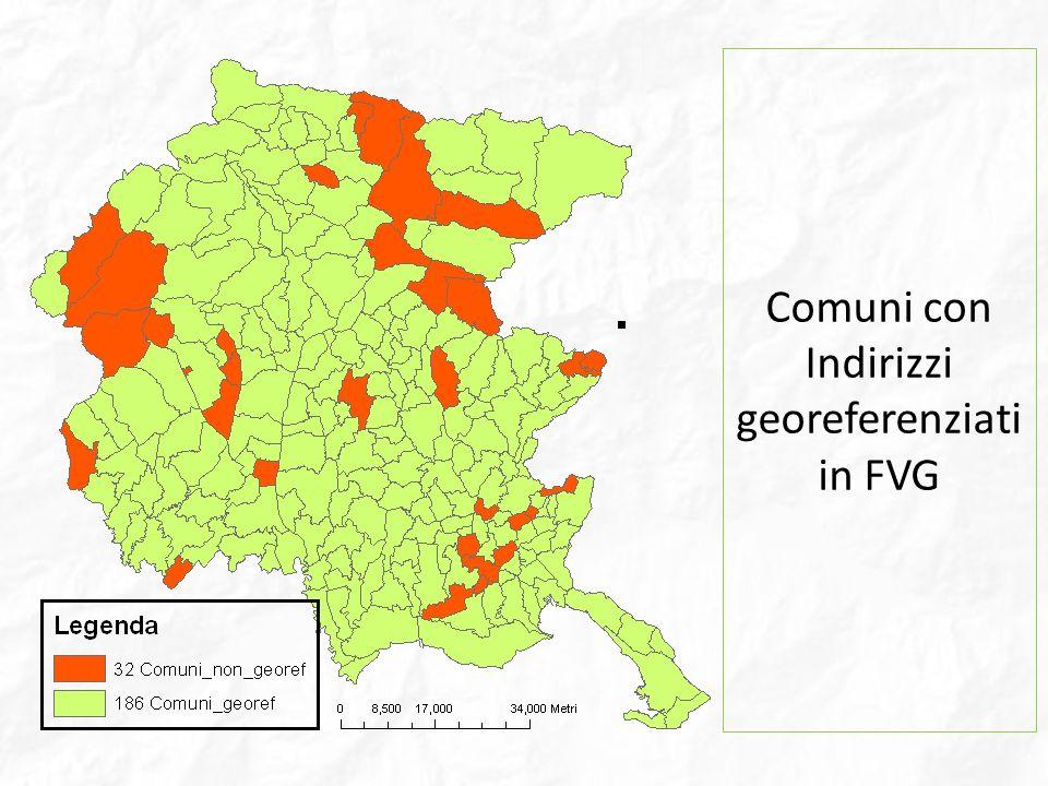 Comuni con Indirizzi georeferenziati in FVG