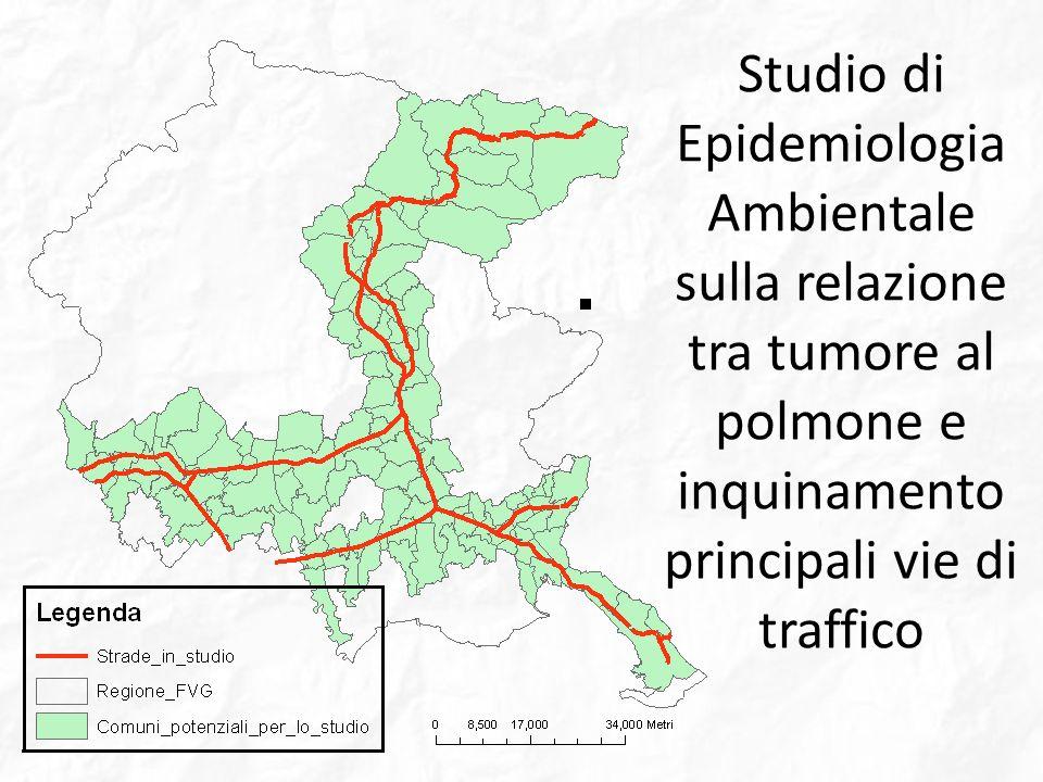 Studio di Epidemiologia Ambientale sulla relazione tra tumore al polmone e inquinamento principali vie di traffico