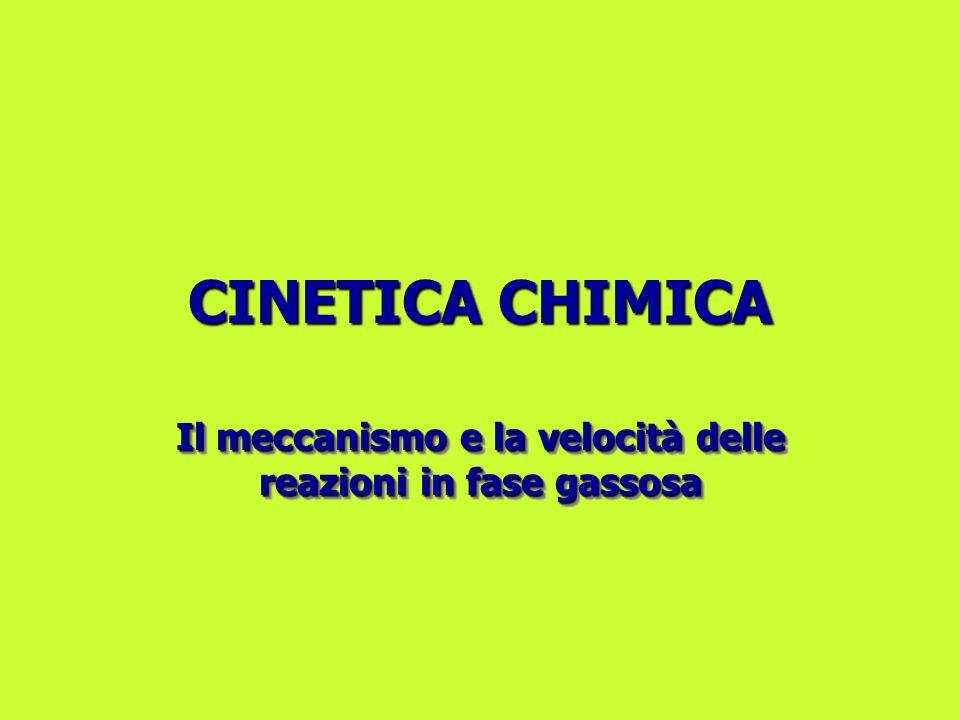 CINETICA CHIMICA Il meccanismo e la velocità delle reazioni in fase gassosa